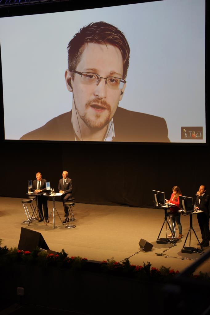 Snowden livestream at Dogana